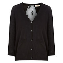 Buy Louche Argento Lace Back Cardigan, Black Online at johnlewis.com