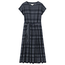 Buy Toast Woven Stripe Dress, Indigo/Off White Online at johnlewis.com
