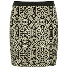 Buy Max Studio Lace Embellished Detail Skirt, Bronze/Black Online at johnlewis.com