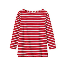 Buy Toast Breton Stripe Top, Madder/White Online at johnlewis.com