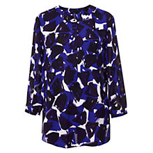 Buy NYDJ Threestone Print Top, Periwinkle/Deep Plum Online at johnlewis.com