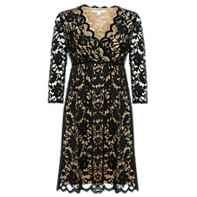 Buy Max Studio Scalloped Lace Dress, Black/Nude Online at johnlewis.com