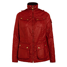 Buy Barbour International Fandor Wax Jacket, Cherry Online at johnlewis.com