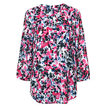 Buy NYDJ Parfait Fusion Garden Print Top, Pink/Grey Online at johnlewis.com