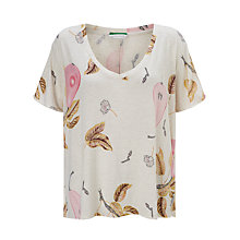 Buy Maison Scotch All-Over Printed T-Shirt, Ecru Online at johnlewis.com