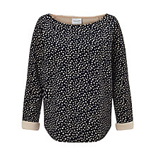 Buy Maison Scotch Neoprene Spot Print Sweatshirt, Navy Online at johnlewis.com