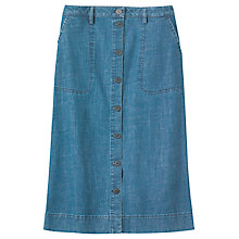 Buy Toast Button Through Denim Skirt, Indigo Online at johnlewis.com