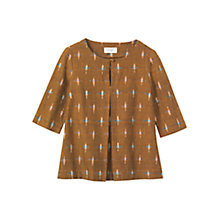 Buy Toast Ikat Top, Khaki Online at johnlewis.com