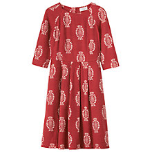 Buy Toast Block Print Dress, Madder/Bone Online at johnlewis.com