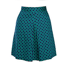 Buy Louche Dayana Circle Print Skirt, Navy/Green Online at johnlewis.com