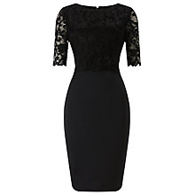 Buy Phase Eight Chelle Lace Dress, Black Online at johnlewis.com