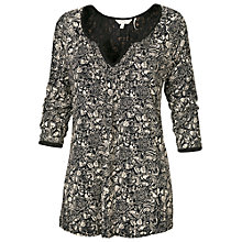 Buy Fat Face Arabella Craft Floral Top, Phantom Online at johnlewis.com