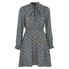 Buy Louche Shaleah Twist Neck Dress, Blue/Green Online at johnlewis.com