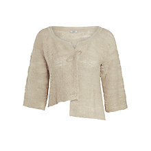 Buy Crea Concept Cropped Boucle Cardigan, Biscuit Online at johnlewis.com