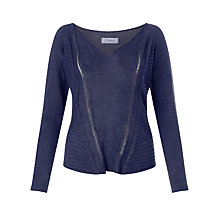 Buy Crea Concept Sheer Stripe Jumper, Navy Online at johnlewis.com