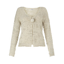 Buy Crea Concept Textured Cardigan, Silver Online at johnlewis.com