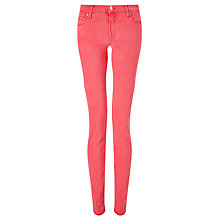 Buy 7 For All Mankind Skinny Rich Sateen Jeans, Fuchsia Online at johnlewis.com