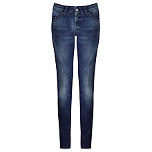 Buy 7 For All Mankind Cristen Mid Rise Skinny Jeans, Left Hand Dark Online at johnlewis.com