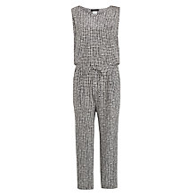 Buy Weekend MaxMara Crochet Check Jumpsuit, White/Navy Online at johnlewis.com