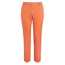 Buy Weekend MaxMara Emilia Stretch Cotton Pique Trousers, Coral Online at johnlewis.com