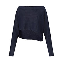 Buy Crea Concept Sheer Stripe Asymmetric Jumper, Navy Online at johnlewis.com