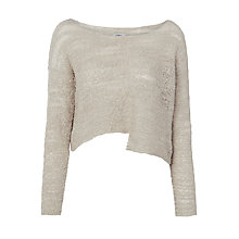 Buy Crea Concept Cropped Boucle Jumper, Silver Online at johnlewis.com