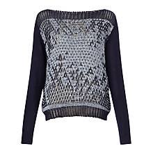 Buy Crea Concept Textured Jumper, Navy Online at johnlewis.com