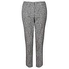 Buy Weekend MaxMara Bouquet Check Trousers, White Online at johnlewis.com