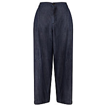 Buy Weekend MaxMara Geremia Cropped Wide Leg Trousers, Ultramarine Online at johnlewis.com