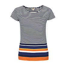 Buy Barbour Harewood Stripe T-Shirt, Navy Online at johnlewis.com