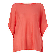 Buy Weekend MaxMara Erminia Split Sleeve Jumper, Coral Online at johnlewis.com