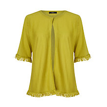 Buy Weekend MaxMara Bull Fringed Cardigan, Yellow Online at johnlewis.com
