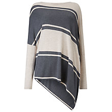 Buy Phase Eight Stripe Melinda Jumper, Oatmeal/Charcoal Online at johnlewis.com