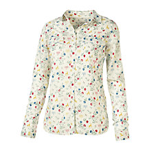Buy Fat Face Classic Fit Fable Print Shirt, Ivory Online at johnlewis.com