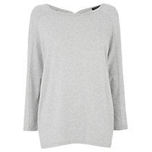 Buy Warehouse Keyhole Detail Top, Light Grey Online at johnlewis.com