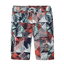 Buy Tommy Hilfiger Boys' Palm Print Board Shorts, Black Iris Online at johnlewis.com