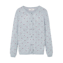 Buy Mango Kids Girls' Embossed Polka Dot Cardigan Online at johnlewis.com