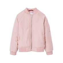 Buy Mango Kids Girls' Waterproof Bomber Jacket, Pink Online at johnlewis.com