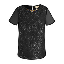 Buy Celuu Heather Lace Sequin Top, Black Online at johnlewis.com