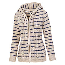 Buy Fat Face Alicia Striped Hoodie, Ivory Online at johnlewis.com