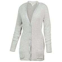 Buy Fat Face Balmoral Boyfriend Cardigan, Grey Online at johnlewis.com