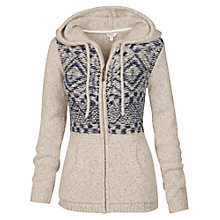 Buy Fat Face Alicia Aztec Zip Thru Cardigan, Ivory Online at johnlewis.com