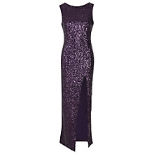 Buy True Decadence Sequin Split Maxi Dress, Plum Online at johnlewis.com