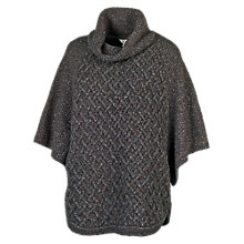 Buy Fat Face Brighton Poncho, Phantom Online at johnlewis.com
