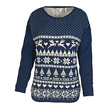 Buy Fat Face Festive Fair Curve Jumper Online at johnlewis.com