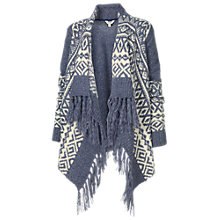 Buy Fat Face Fairisle Waterfall Cardigan, Indigo Online at johnlewis.com