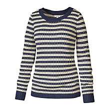 Buy Fat Face Betty Patterned Jumper, Navy Online at johnlewis.com