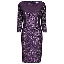 Buy True Decadence Sequin Sleeve Bodycon Dress, Plum Online at johnlewis.com