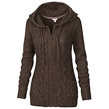 Buy Fat Face Alicia Cable Zip Thru Cardigan, Chocolate Online at johnlewis.com