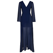 Buy True Decadence Flared Sleeve Sheer Maxi Dress, Navy Online at johnlewis.com